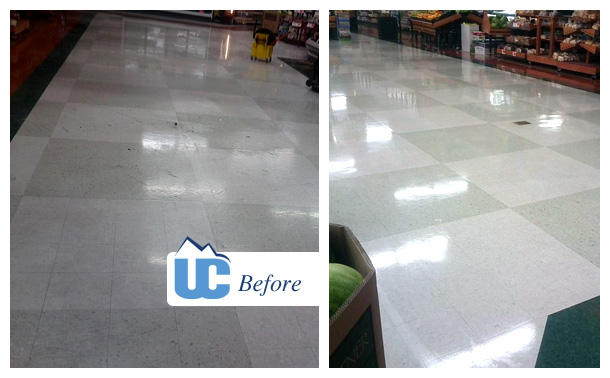 Before and After Commercial Flooring 1